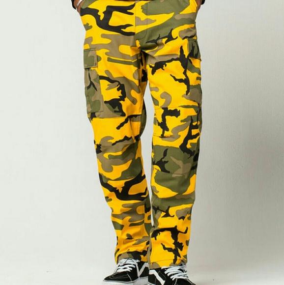 Supreme Pants | Rothco Yellow Camo Size Small | Poshmark